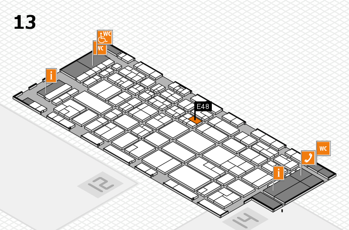 CARAVAN SALON 2016 hall map (Hall 13): stand E48