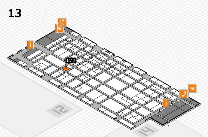 CARAVAN SALON 2016 hall map (Hall 13): stand B73