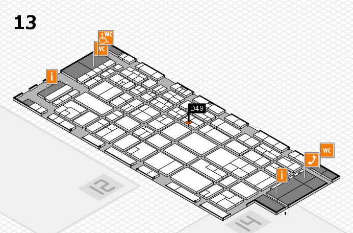 CARAVAN SALON 2016 hall map (Hall 13): stand D49