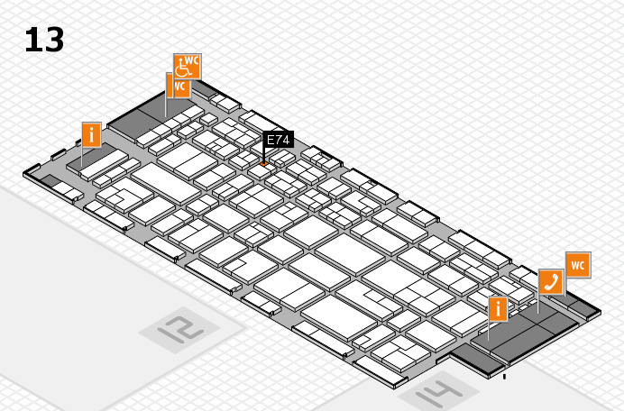 CARAVAN SALON 2016 hall map (Hall 13): stand E74