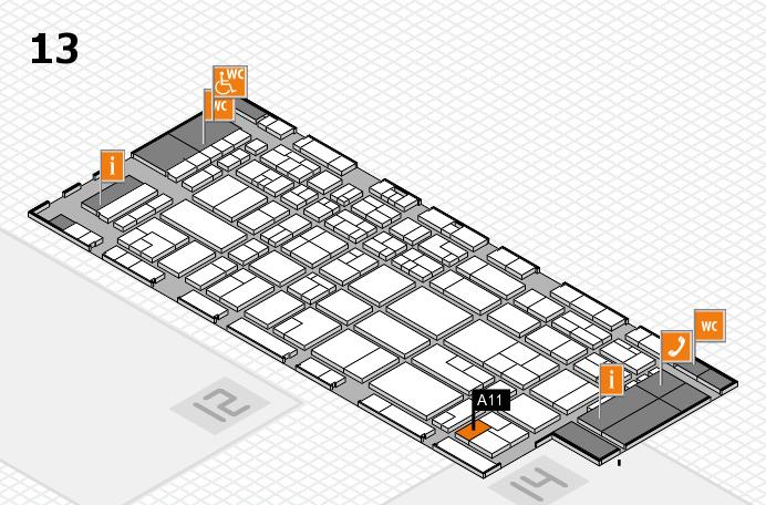 CARAVAN SALON 2016 hall map (Hall 13): stand A11