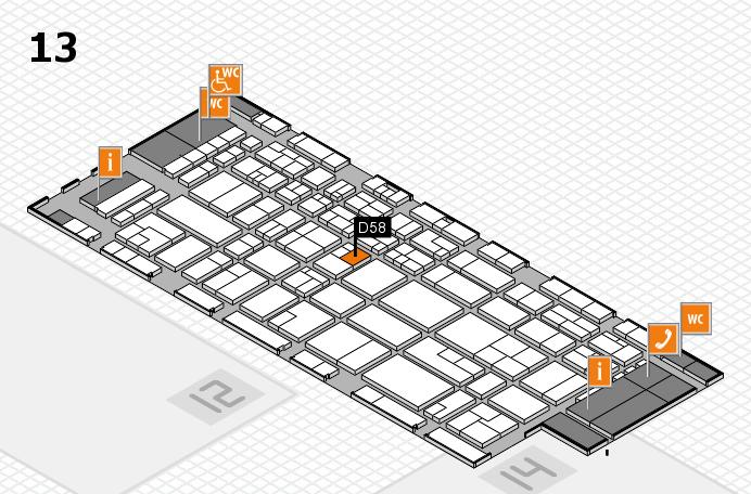 CARAVAN SALON 2016 hall map (Hall 13): stand D58