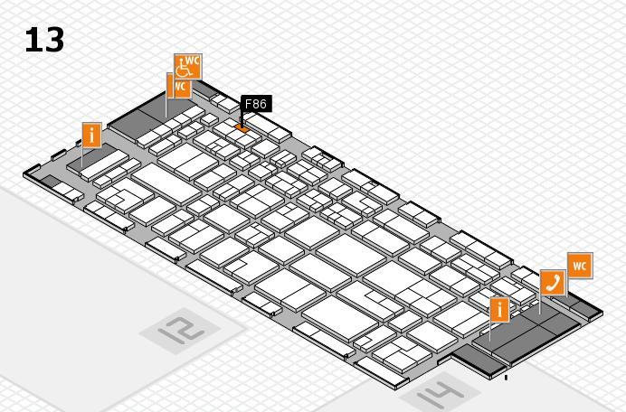 CARAVAN SALON 2016 hall map (Hall 13): stand F86
