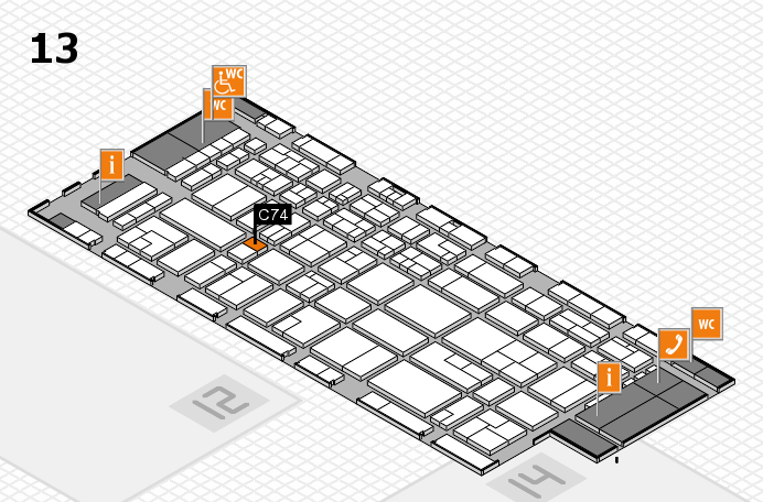 CARAVAN SALON 2016 Hallenplan (Halle 13): Stand C74