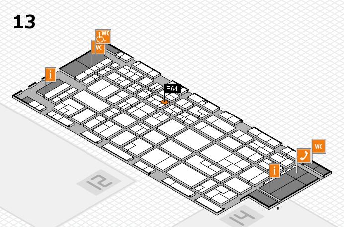 CARAVAN SALON 2016 hall map (Hall 13): stand E64