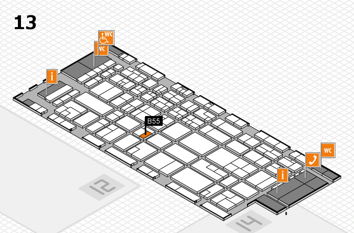 CARAVAN SALON 2016 hall map (Hall 13): stand B55