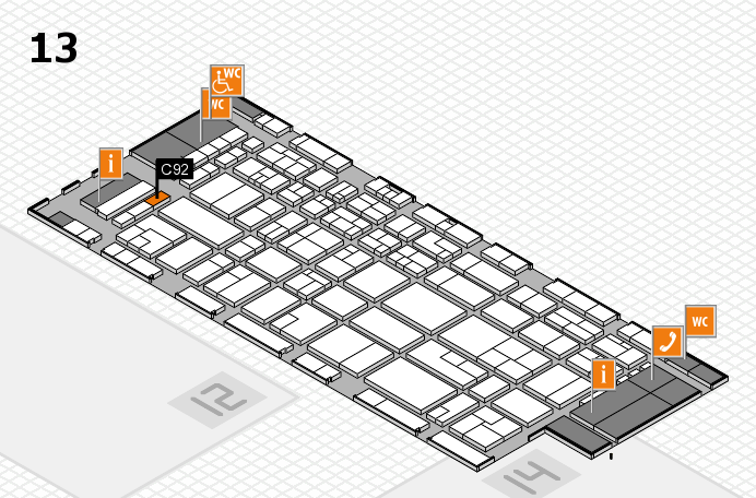 CARAVAN SALON 2016 hall map (Hall 13): stand C92
