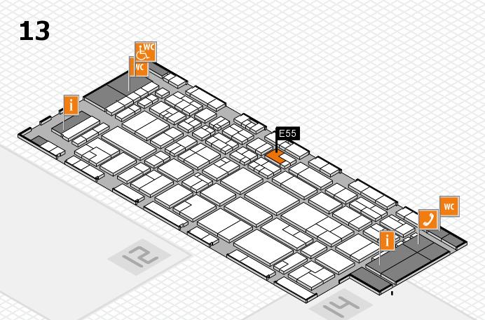 CARAVAN SALON 2016 hall map (Hall 13): stand E55