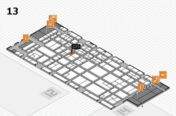 CARAVAN SALON 2016 hall map (Hall 13): stand D70
