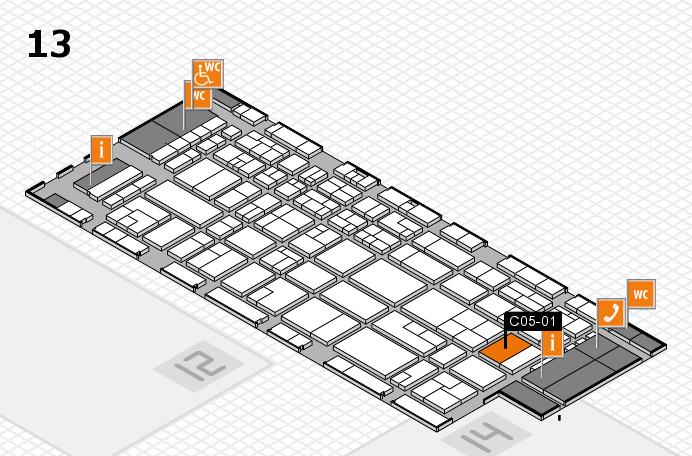 CARAVAN SALON 2016 hall map (Hall 13): stand C05-01