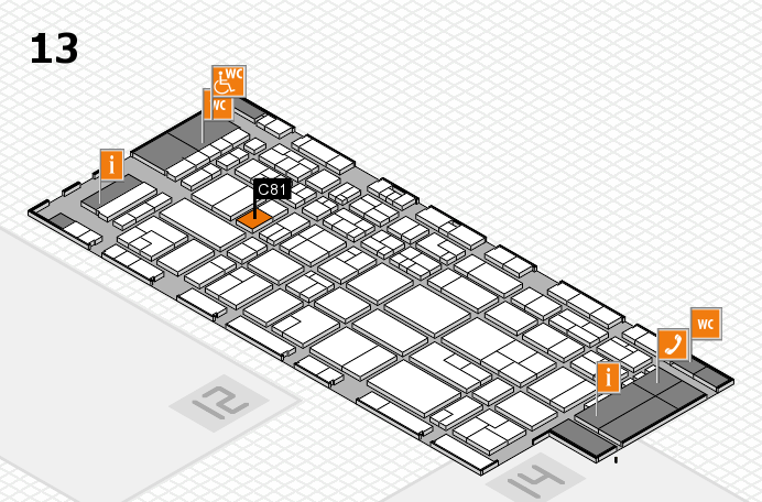 CARAVAN SALON 2016 hall map (Hall 13): stand C81