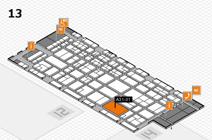 CARAVAN SALON 2016 Hallenplan (Halle 13): Stand A31-01