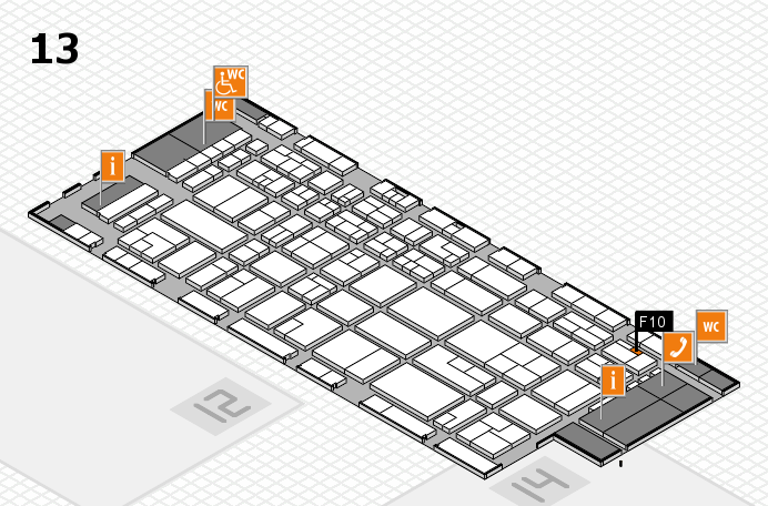 CARAVAN SALON 2016 hall map (Hall 13): stand F10