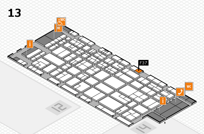 CARAVAN SALON 2016 hall map (Hall 13): stand F37