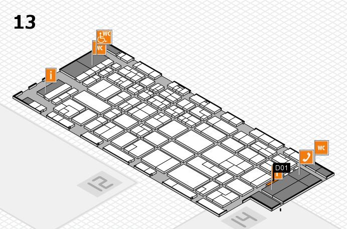 CARAVAN SALON 2016 hall map (Hall 13): stand D01