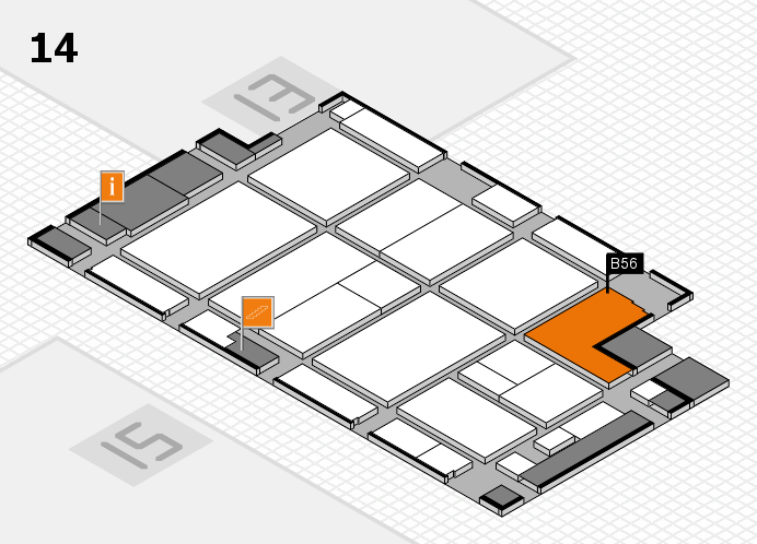 CARAVAN SALON 2016 hall map (Hall 14): stand B56