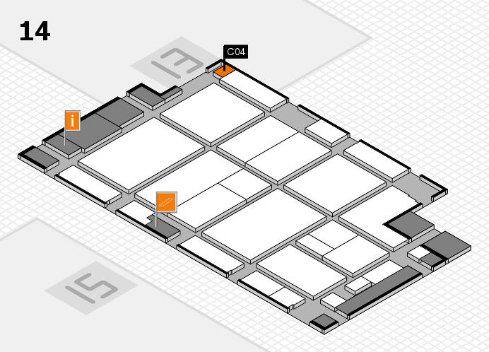 CARAVAN SALON 2016 hall map (Hall 14): stand C04