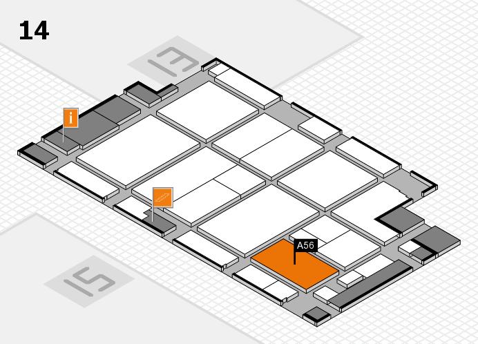 CARAVAN SALON 2016 hall map (Hall 14): stand A56