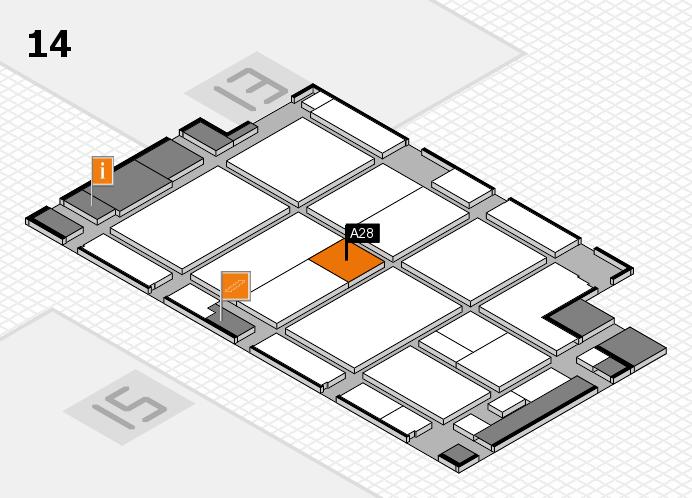 CARAVAN SALON 2016 hall map (Hall 14): stand A28