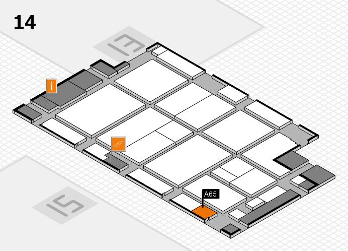 CARAVAN SALON 2016 hall map (Hall 14): stand A65
