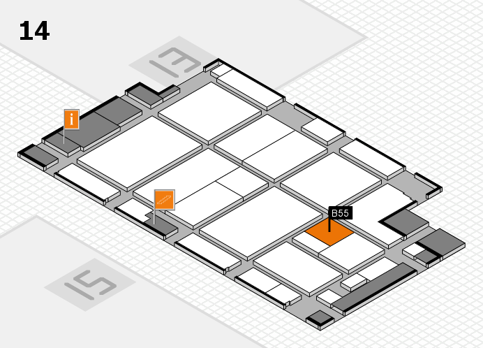 CARAVAN SALON 2016 hall map (Hall 14): stand B55