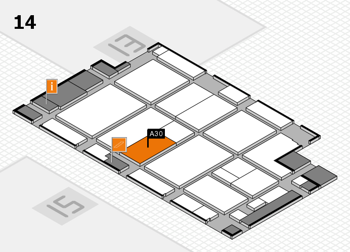 CARAVAN SALON 2016 hall map (Hall 14): stand A30