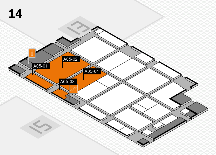 CARAVAN SALON 2016 hall map (Hall 14): stand A05-01, stand A05-04