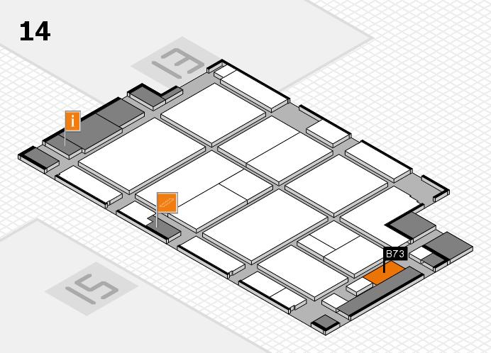CARAVAN SALON 2016 hall map (Hall 14): stand B73