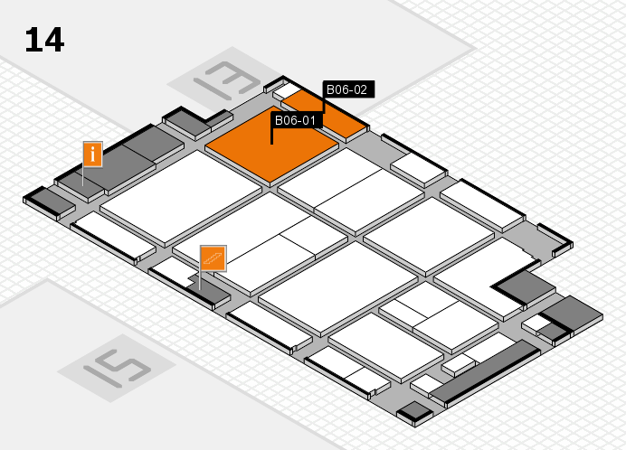 CARAVAN SALON 2016 hall map (Hall 14): stand B06-01, stand B06-02
