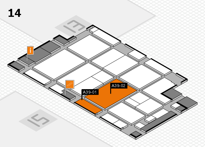 CARAVAN SALON 2016 hall map (Hall 14): stand A39-01, stand A39-02