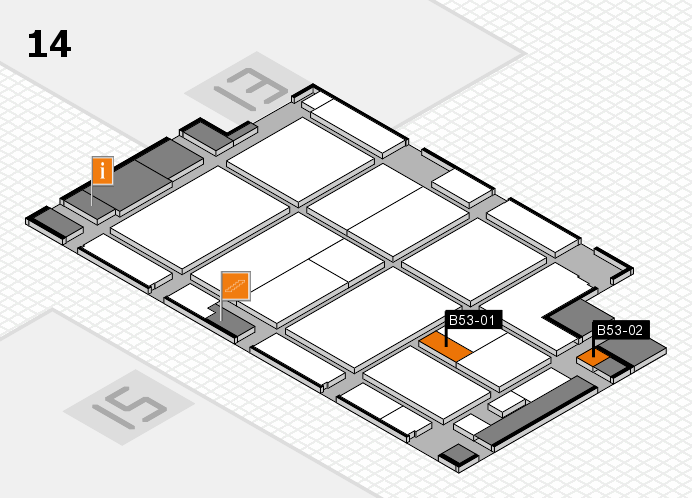 CARAVAN SALON 2016 hall map (Hall 14): stand B53-01, stand B53-02