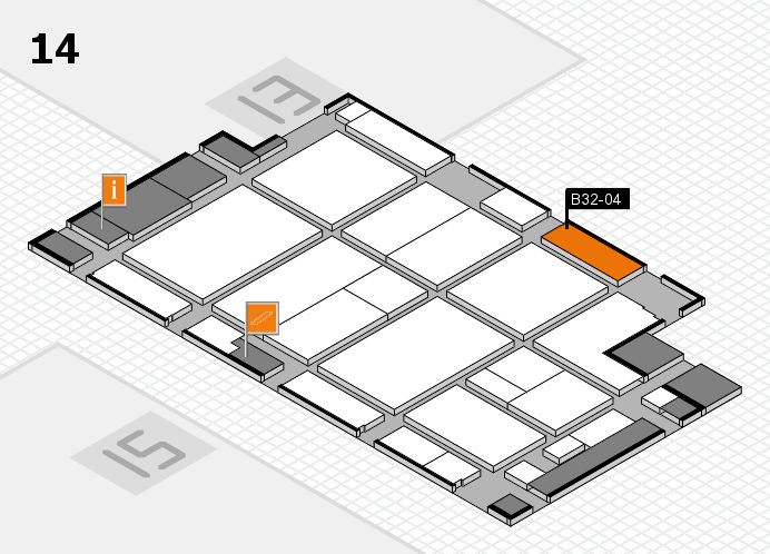 CARAVAN SALON 2016 hall map (Hall 14): stand B32-04