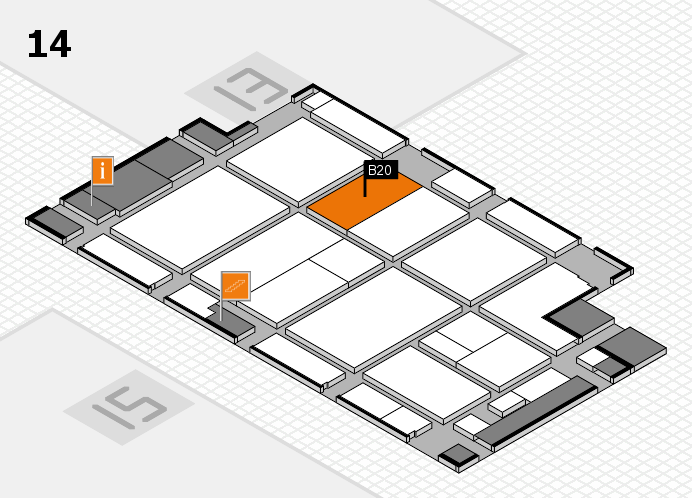 CARAVAN SALON 2016 hall map (Hall 14): stand B20