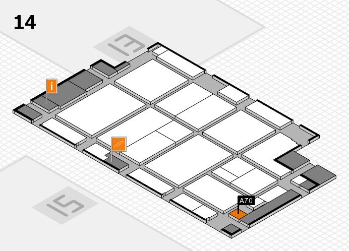 CARAVAN SALON 2016 hall map (Hall 14): stand A70