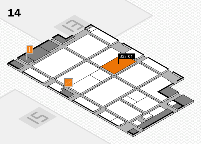 CARAVAN SALON 2016 hall map (Hall 14): stand B32-01