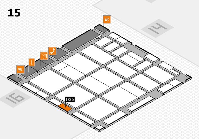 CARAVAN SALON 2016 hall map (Hall 15): stand D35