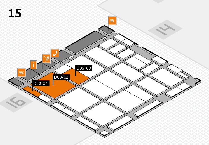 CARAVAN SALON 2016 hall map (Hall 15): stand D03-01, stand D03-03