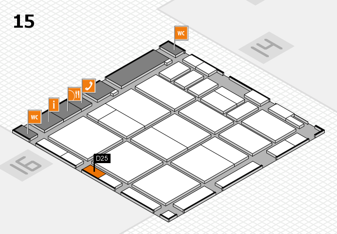 CARAVAN SALON 2016 hall map (Hall 15): stand D25