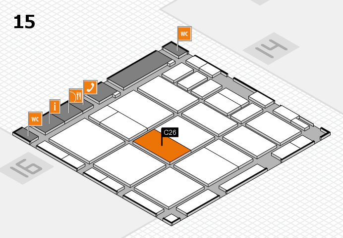 CARAVAN SALON 2016 hall map (Hall 15): stand C26