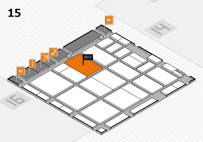 CARAVAN SALON 2016 hall map (Hall 15): stand B03