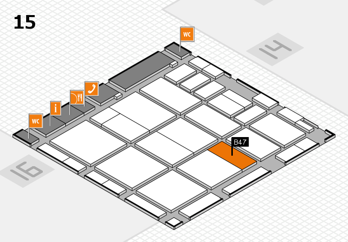 CARAVAN SALON 2016 hall map (Hall 15): stand B47