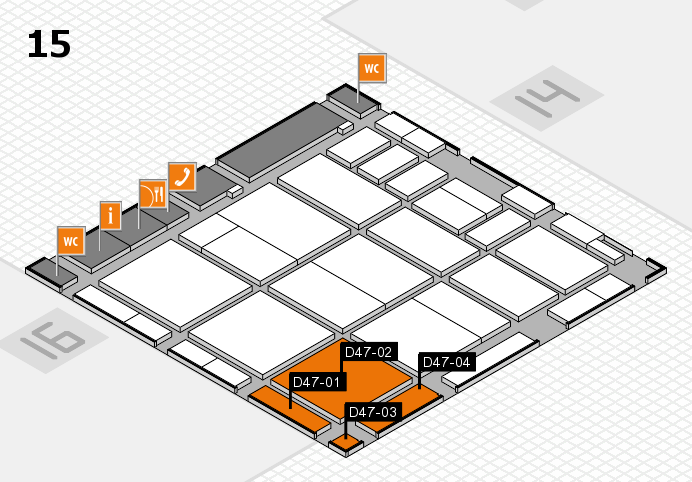 CARAVAN SALON 2016 hall map (Hall 15): stand D47-01, stand D47-04