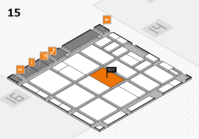 CARAVAN SALON 2016 hall map (Hall 15): stand B25