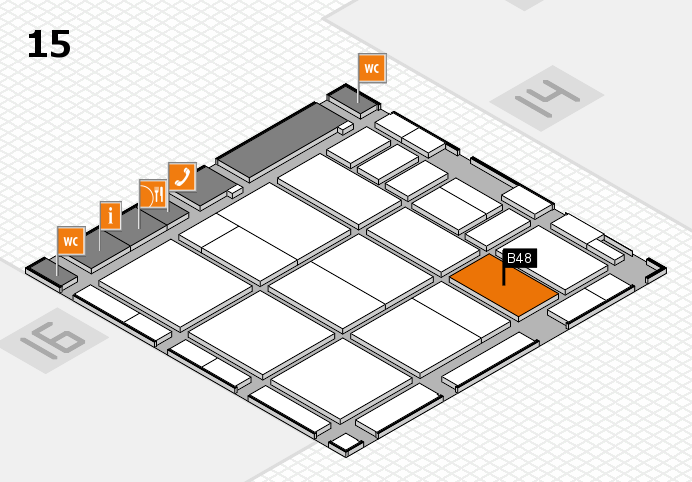 CARAVAN SALON 2016 hall map (Hall 15): stand B48