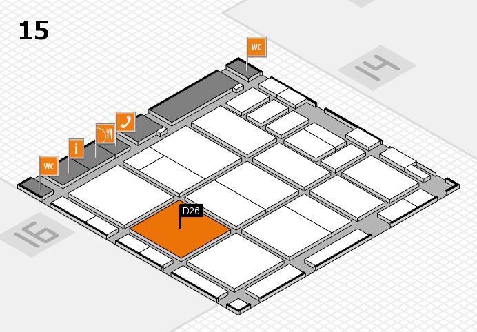 CARAVAN SALON 2016 hall map (Hall 15): stand D26