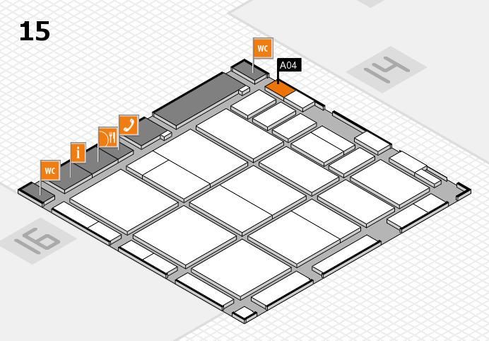 CARAVAN SALON 2016 hall map (Hall 15): stand A04