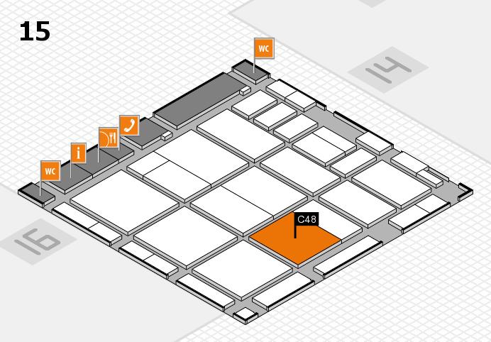 CARAVAN SALON 2016 hall map (Hall 15): stand C48