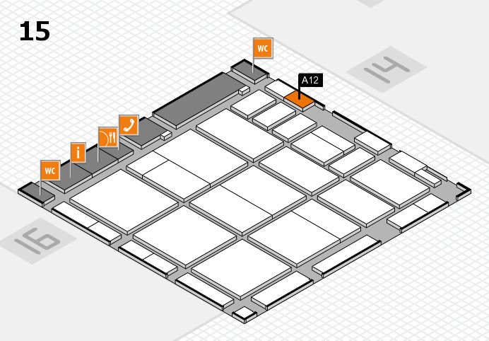 CARAVAN SALON 2016 hall map (Hall 15): stand A12