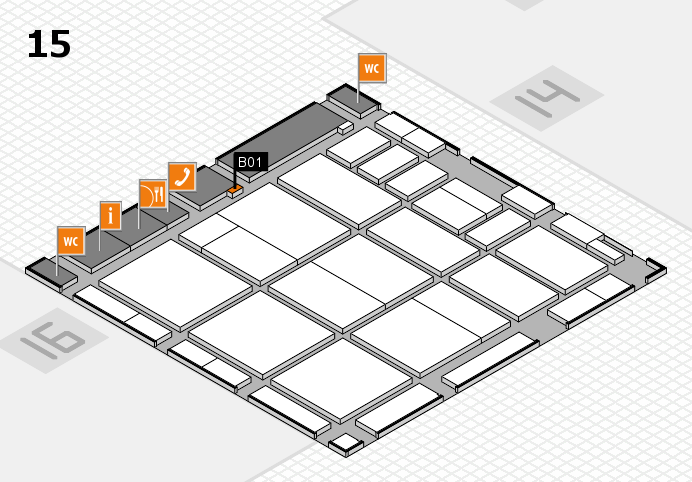 CARAVAN SALON 2016 hall map (Hall 15): stand B01