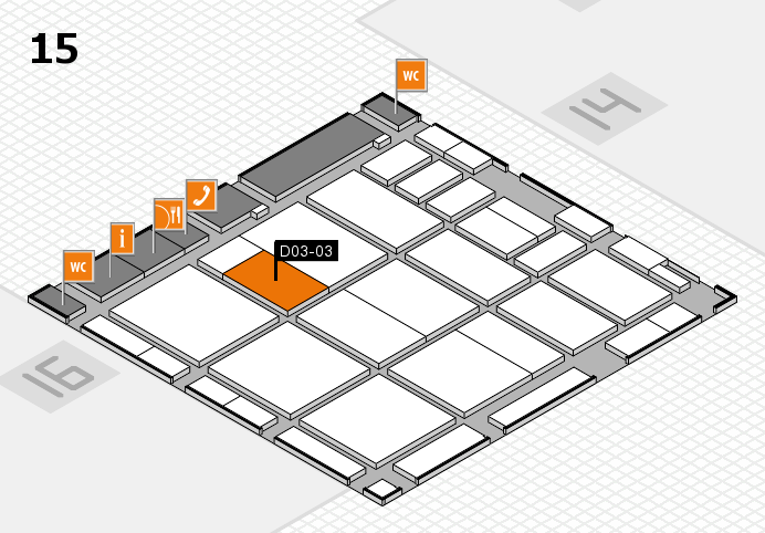 CARAVAN SALON 2016 hall map (Hall 15): stand D03-03